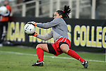 03 December 2010: Ohio State goalkeeper Katie Baumgardner makes a save. The Notre Dame Fighting Irish defeated the Ohio State University Buckeyes 1-0 at WakeMed Stadium in Cary, North Carolina in an NCAA Women's College Cup semifinal game.