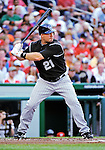 9 July 2011: Colorado Rockies third baseman Ty Wigginton in action against the Washington Nationals at Nationals Park in Washington, District of Columbia. The Rockies edged out the Nationals 2-1 to win the second game of their 3-game series. Mandatory Credit: Ed Wolfstein Photo