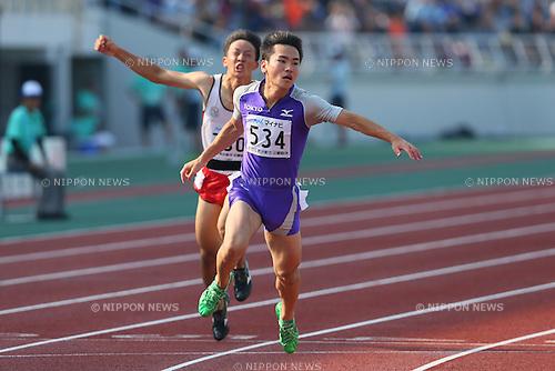 Kenta Oshima (), <br /> JULY 30, 2015 - Athletics : <br /> 2015 All-Japan Inter High School Championships, <br /> Men's 100m Final <br /> at Kimiidera Athletic Stadium, Wakayama, Japan. <br /> (Photo by YUTAKA/AFLO SPORT)