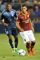 Sporting Park, Kansas City, Kansas, July 31 2013:<br /> Gianluca Caprari (18) forward AS Roma in action.<br /> MLS All-Stars were defeated 3-1 by AS Roma at Sporting Park, Kansas City, KS in the 2013 AT &amp; T All-Star game.