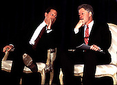 Washington, DC - February 27, 1997 - United States Vice President Al Gore and U.S. President Bill Clinton share some thoughts before their remarks before The Business Council meeting..Credit: Ron Sachs / CNP