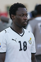 Ghana's Ransford Osei (18) stands on the field before the match against South Korea during the FIFA Under 20 World Cup Quarter-final match between Ghana and South Korea at the Mubarak Stadium  in Suez, Egypt, on October 09, 2009.