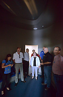 NWA Democrat-Gazette/BEN GOFF @NWABENGOFF<br /> Randy Graham (second from right), director of guest services at the Scott Family Amazeum, leads a tour Thursday, May 18, 2017, for participants in the Arkansas State Parks, Recreation &amp; Travel Commission's May meeting during a stop at the museum in Bentonville. Commissioners were able to see some of what Northwest Arkansas has to offer while in town for the three-day meeting, which concludes Friday, including visits to Prairie Grove Battlefield State Park, Brightwater culinary school, Hobbs State Park - Conservation Area and Crystal Bridges Museum of American Art.