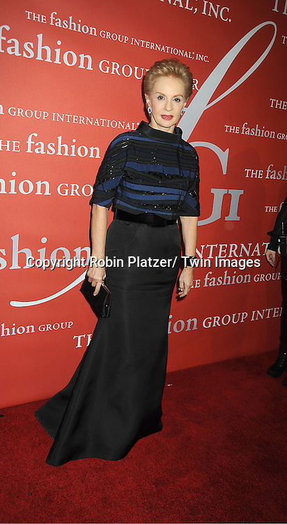 Carolina Herrera attends the Fashion Group International's 29th Annual  Night of Stars Gala on October 25, 2012 at Cipriani Wall Street in New York City.