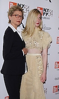 NEW YORK, NY-October 08: Annette Bening, Elle Fanning at NYFF54 Centerpiece Gala presents the World Premiere of 20th Century Women  at Alice Tully Hall in New York.October 08, 2016. Credit:RW/MediaPunch
