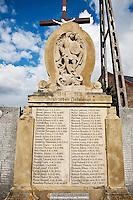German Language WW1 memoral in village Smicz - Schmitsch,  Modern Prudnik, Poland, former German Oberschlessien (Upper Silesia)