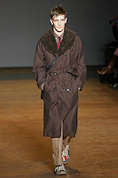 Yannick walks runway in an outfit from the Marc by Marc Jacobs Fall/Winter 2011 collection, during New York Fashion Week, Fall 2011.