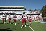 13 October 2007: South Carolina's Melvin Ingram (6) with Cliff Matthews (83), Yvan Banag (30), Greg Wright (35) and Cody Wells (24). The University of South Carolina Gamecocks defeated the University of North Carolina Tar Heels 21-15 at Kenan Stadium in Chapel Hill, North Carolina in an NCAA College Football Division I game.