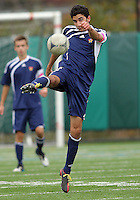 HYATTSVILLE, MD - OCTOBER 26, 2012:  Arjan Ganji (10) of St. Albans during a match against DeMatha at Heurich Field in Hyattsville, MD. on October 26. DeMatha won 2-0.