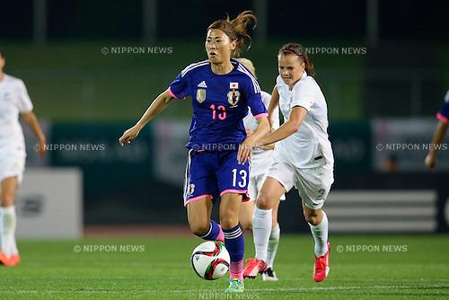 Rumi Utsugi (JPN), <br /> MAY 24, 2015 - Football / Soccer : MS&amp;AD Nadeshiko Cup 2015 match between Womens Japan and Womens New Zealand at Marugame stadium, Kagawa, Japan. (Photo by AFLO)