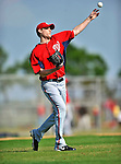 20 February 2011: Washington Nationals' pitcher Ross Detwiler takes some fielding practice during Spring Training at the Carl Barger Baseball Complex in Viera, Florida. Mandatory Credit: Ed Wolfstein Photo