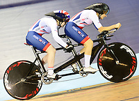 Picture by Simon Wilkinson/SWpix.com - 04/03/2017 - Cycling 2017 UCI Para-Cycling Track World Championships, Velosports Centre, Los Angeles USA - Sophie Thornhill Corrine Hall