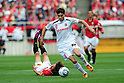 (T-B) Rodrigo Pimpao (Cerezo), Genki Haraguchi (Reds),MAY 15th, 2011 - Football : 2011 J.League Division 1 match between Urawa Red Diamonds 1-1 Cerezo Osaka at Saitama Stadium 2002 in Saitama, Japan. (Photo by AFLO).
