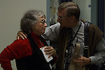 Bob Walter talks to Martha Jo in the ER about a crisis in Ward 5A about another chaplain At San Francisco General Hospital, California
