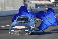Nov 11, 2016; Pomona, CA, USA; NHRA top alcohol funny car driver Jonnie Lindberg during qualifying for the Auto Club Finals at Auto Club Raceway at Pomona. Mandatory Credit: Mark J. Rebilas-USA TODAY Sports