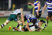 Francois Louw of Bath Rugby gets over the ball. Aviva Premiership match, between Bath Rugby and Northampton Saints on February 10, 2017 at the Recreation Ground in Bath, England. Photo by: Patrick Khachfe / Onside Images