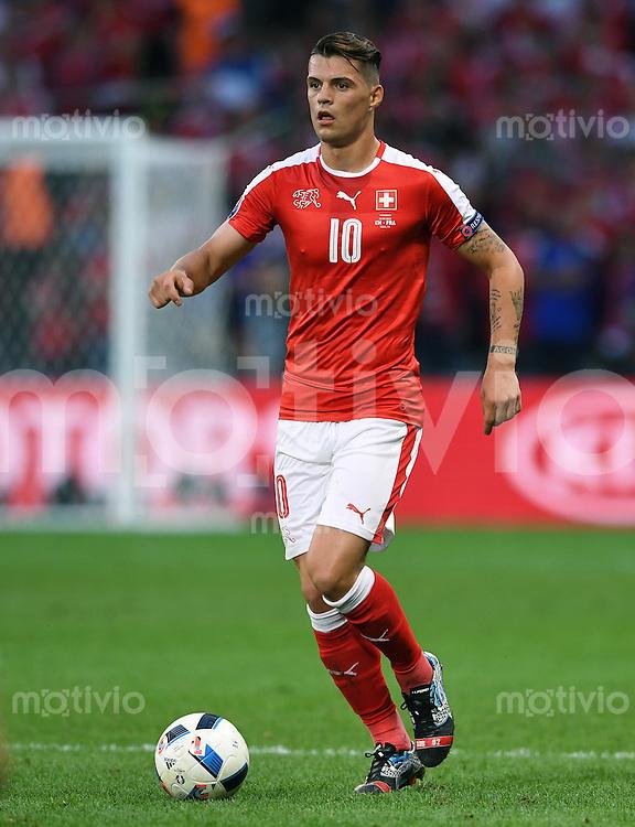FUSSBALL EURO 2016 GRUPPE A IN LILLE Schweiz - Frankreich     19.06.2016 Granit Xhaka (Schweiz)