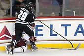 Conor MacPhee (PC - 29), Casey Fitzgerald (BC - 5) - The Boston College Eagles defeated the visiting Providence College Friars 3-1 on Friday, October 28, 2016, at Kelley Rink in Conte Forum in Chestnut Hill, Massachusetts.The Boston College Eagles defeated the visiting Providence College Friars 3-1 on Friday, October 28, 2016, at Kelley Rink in Conte Forum in Chestnut Hill, Massachusetts.