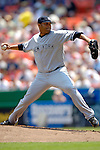 17 June 2006: Shawn Chacon, pitcher for the New York Yankees, in action against the Washington Nationals at RFK Stadium, in Washington, DC. The Nationals overcame a seven run deficit to win 11-9 in the second game of the interleague series...Mandatory Photo Credit: Ed Wolfstein Photo...