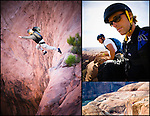BASE jumping in Moab, Utah.
