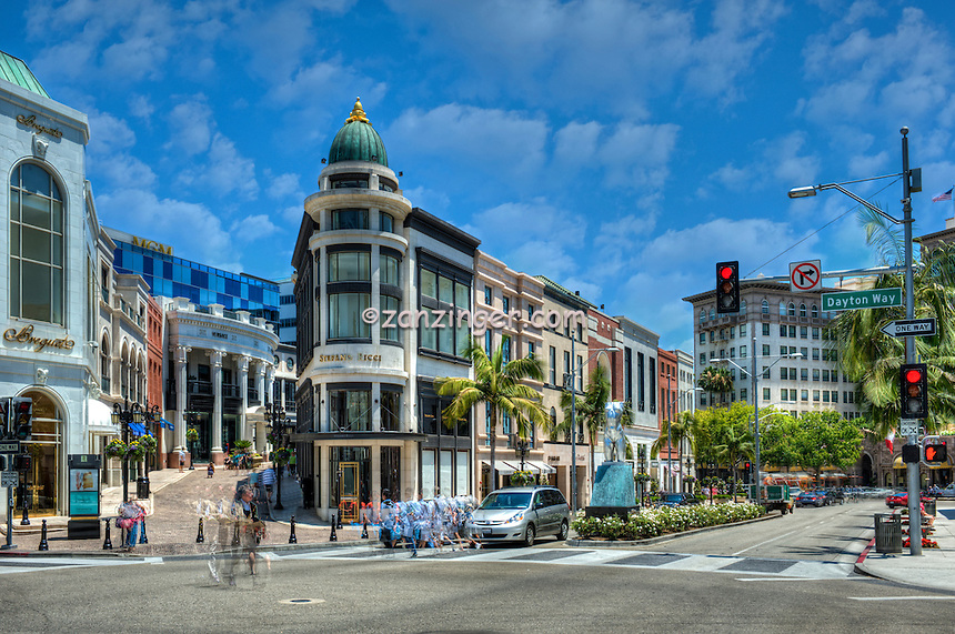 Beverly Hills, CA, Rodeo Drive, Via Rodeo, Luxury Shopping,