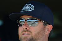 May 19, 2012; Topeka, KS, USA: NHRA top fuel dragster driver Shawn Langdon during qualifying for the Summer Nationals at Heartland Park Topeka. Mandatory Credit: Mark J. Rebilas-