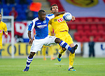 St Johnstone v Eskisehirspor...26.07.12  Europa League Qualifyer.Nigel Hasselbaink and Hurriyet Gucer.Picture by Graeme Hart..Copyright Perthshire Picture Agency.Tel: 01738 623350  Mobile: 07990 594431