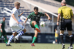 31 August 2014: Stetson's Sebastian Contreras. The Duke University Blue Devils hosted the Stetson University Hatters at Koskinen Stadium in Durham, North Carolina in a 2014 NCAA Division I Men's Soccer match. Duke won the game 8-2.