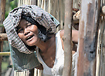 A woman in the Cambodian village of Char.