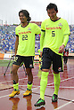 (L to R) Yuji Nakazawa, Kimu Kun Hoan, (Marinos), April 23rd, 2011 - Football : 2011 J.LEAGUE Division 1, 7th Sec match between Kashima Antlers 0-3 Yokohama Marinos at National Stadium, Tokyo, Japan. The J.League resumed on Saturday 23rd April after a six week enforced break following the March 11th Tohoku Earthquake and Tsunami. All games kicked off in the daytime in order to save electricity and title favourites Kashima Antlers are still unable to use their home stadium which was damaged by the quake. Velgata Sendai, from Miyagi, which was hard hit by the tsunami came from behind for an emotional 2-1 victory away to Kawasaki. (Photo by Akihiro Sugimoto/AFLO SPORT) [1080]