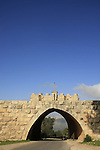 Israel, Jezreel valley. The entrance to the Franciscan Church of the Transfiguration on Mount Tabor