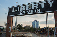 Ruins of Liberty Warehouse in Durham, North Carolina on Thursday, October 2, 2014. (Justin Cook)