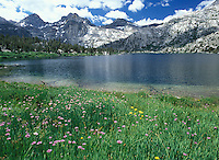 Rae Lake along the John Muir Trail, California.