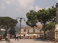 Main Square in Ravello, Amalfi Coast, Campania, Italy, Europe, World Heritage Site