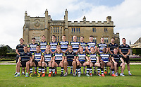 The Bath Rugby Academy pose for a team photo at a Bath Rugby photocall. Bath Rugby Media Day on September 8, 2015 at Farleigh House in Bath, England. Photo by: Rogan Thomson for Onside Images