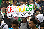People attend the International Day of the Marijuana and for the legalization of it in Medellin, Colombia, May 5, 2012. Photo by Fredy Amariles/VIEWpress.