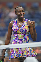 FLUSHING NY- SEPTEMBER 01: Venus Williams Vs Julia Goerges at the USTA Billie Jean King National Tennis Center on September 1, 2016 in Flushing, Queens. Credit: mpi04/MediaPunch
