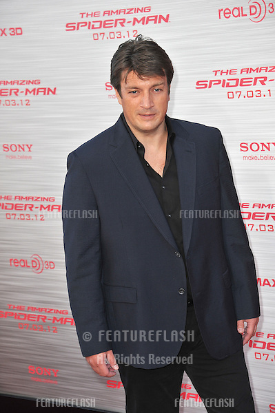 """Nathan Fillion at the world premiere of """"The Amazing Spider-Man"""" at Regency Village Theatre, Westwood..June 29, 2012  Los Angeles, CA.Picture: Paul Smith / Featureflash"""