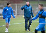 St Johnstone Training&hellip;.20.01.17<br />Manager Tommy Wright pictured with Paul Paton during training this monring ahead of tomorrow&rsquo;s Scottish Cup game against Stenhousemuir.<br />Picture by Graeme Hart.<br />Copyright Perthshire Picture Agency<br />Tel: 01738 623350  Mobile: 07990 594431