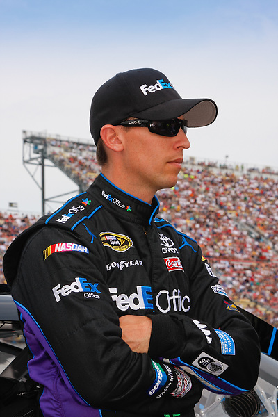 19 June, 2011: Denny Hamlin prior to the 43rd Annual Heluva Good! Sour Cream Dips 400 at Michigan International Speedway in Brooklyn, Michigan. (Photo by Jeff Speer :: SpeerPhoto.com)