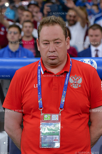 Leonid Slutski Coach (Russia) ; <br /> June 15, 2016 - Football : Uefa Euro France 2016, Group B, Russia 1-2 Slovakia at Stade Pierre Mauroy, Lille Metropole, France. (Photo by aicfoto/AFLO)