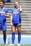 26 August 2012: Florida's Erika Tymrak. The University of Florida Gators defeated the Duke University Blue Devils 3-2 in overtime at Fetzer Field in Chapel Hill, North Carolina in a 2012 NCAA Division I Women's Soccer game.