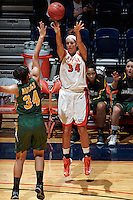 SAN ANTONIO, TX - DECEMBER 2, 2012: The University of San Francisco Lady Dons versus the University of Texas at San Antonio Roadrunners Women's Basketball at the UTSA Convocation Center. (Photo by Jeff Huehn)