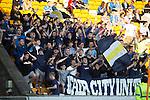 St Johnstone v Celtic&hellip;.McDiarmid Park, Perth.. 11.05.16<br />sainst fans in good voice<br />Picture by Graeme Hart.<br />Copyright Perthshire Picture Agency<br />Tel: 01738 623350  Mobile: 07990 594431