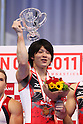 Kohei Uchimura (JPN), JULY 2, 2011 - Artistic gymnastics : Japan Cup 2011 Men's Team Competition Victory Ceremony at Tokyo Metropolitan Gymnasium, Tokyo, Japan. (Photo by YUTAKA/AFLO SPORT) [1040]