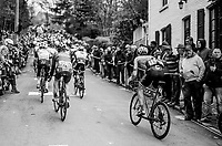 Thomas Scully (NZL/Cannondale-Drapac) hanging onto the back of the peloton up the infamous Mur de Huy<br /> <br /> 81st La Fl&egrave;che Wallonne (1.UWT)<br /> One Day Race: Binche &rsaquo; Huy (200.5km)
