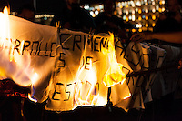 Protesters demand action on 43 students missing. Mexico City