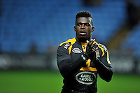 Christian Wade of Wasps acknowledges the crowd after the match. Aviva Premiership match, between Wasps and Gloucester Rugby on November 8, 2015 at the Ricoh Arena in Coventry, England. Photo by: Patrick Khachfe / Onside Images