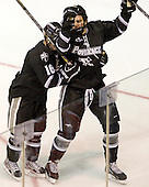 Kyle Murphy (PC - 16), Paul de Jersey (PC - 13) - The Boston University Terriers defeated the visiting Providence College Friars 4-2 (EN) on Saturday, December 13, 2012, at Agganis Arena in Boston, Massachusetts.