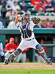 9 March 2012: Detroit Tigers catcher Bryan Holaday in action during a Spring Training game against the Philadelphia Phillies at Joker Marchant Stadium in Lakeland, Florida. The Phillies defeated the Tigers 7-5 in Grapefruit League action. Mandatory Credit: Ed Wolfstein Photo